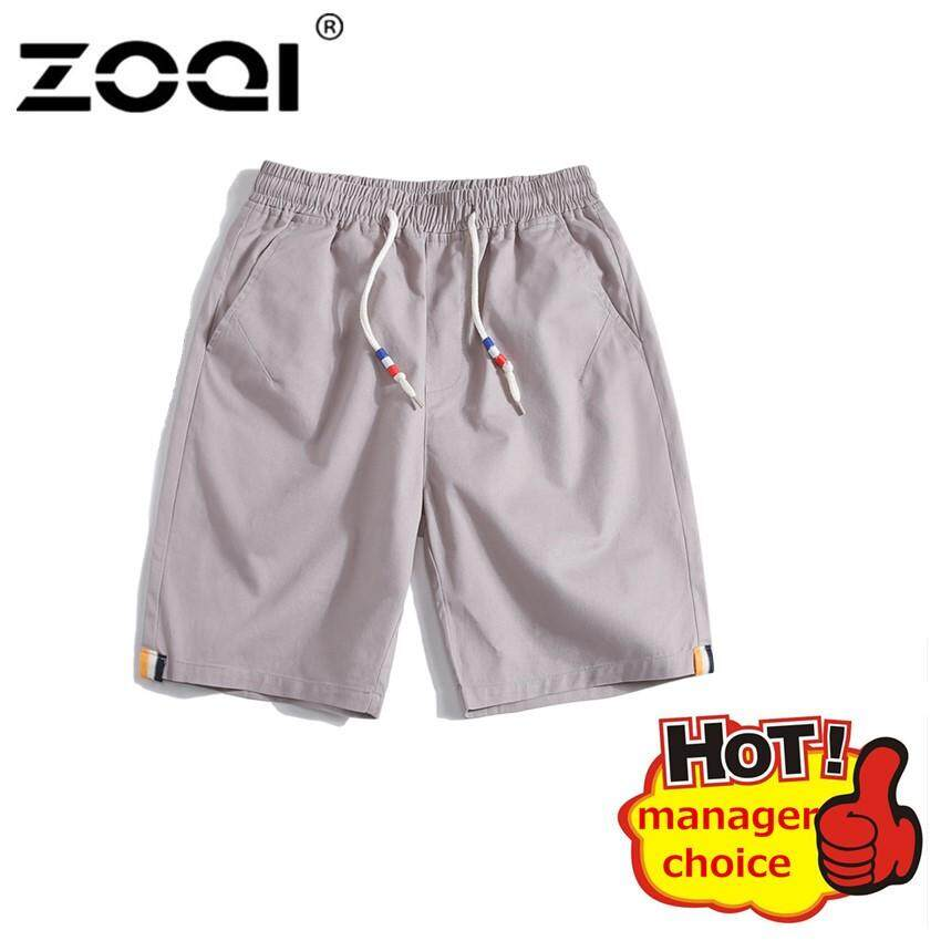 f75478929c ZOQI Shorts Leisure Sports Five-Cent Trousers Cotton Belted Beach Shorts  Pant For Men Summer