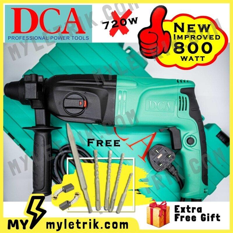 NEW 800W 100% Original DCA AZC05-26B 3 In 1 Electric Rotary Hammer Forward / Reverse (Drill Dinding / Batu 3In1 )