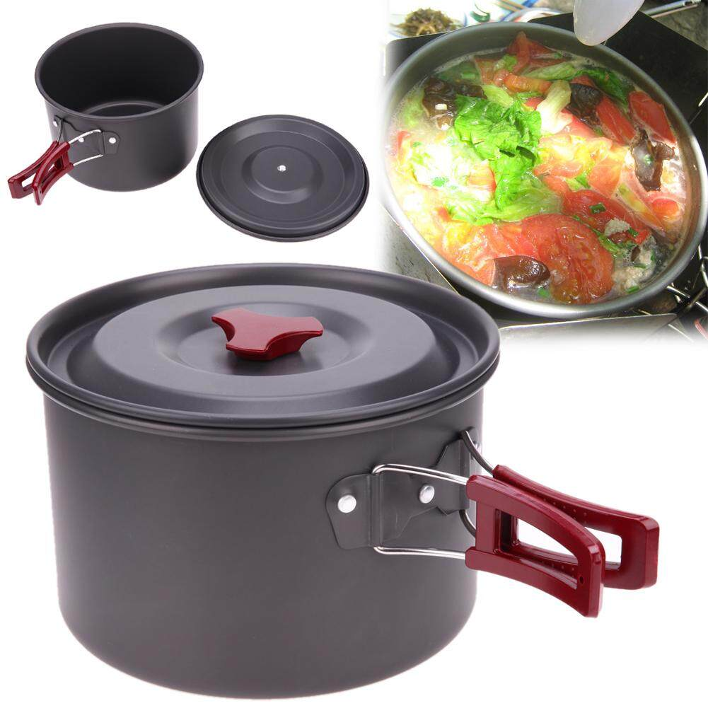 「winnereco」3L Oxidation Aluminum Single Pot Non-stick Hiking Fishing Picnic Cookware