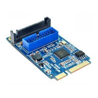 Bo Mạch Chủ Mini PCI Express Sang Dual USB 3.0 Bộ Chuyển Đổi Thẻ Mở Rộng 19 Chân, Bộ Chuyển Đổi PCI-E Sang 2 Cổng USB 3.0 SATA XXM thumbnail