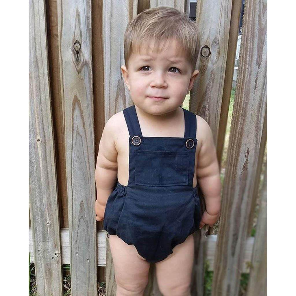 Toddler Kid Baby Boy Girls Sleeveless Romper Bodysuit Overalls Clothes Outfits