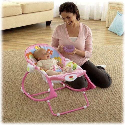New Pink Butterfly - Baby Kids Children Infant-to-Toddler Play Toys Vibration Swing Rocker Bouncer Chair Seat
