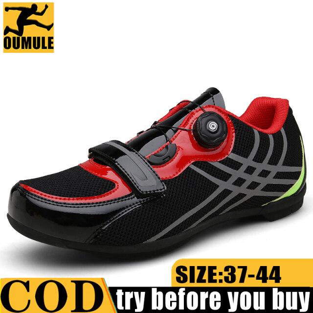 Giày Đi Xe Đạp Đường Trường Oumule Cho Nam, Giày Thể Thao Giày Đạp Xe Tự Khóa Bằng Vải PU Cho Nam MTB giá rẻ