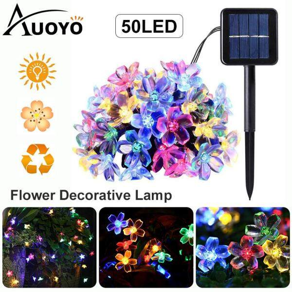 Auoyo Solar Lights Outdoor Lighting Solar Garden String Lamp 50 LED Honeybee Solar Powered Fairy Lighting Waterproof Decorative Lights with 8 Mode for Garden Home Landscape Wedding