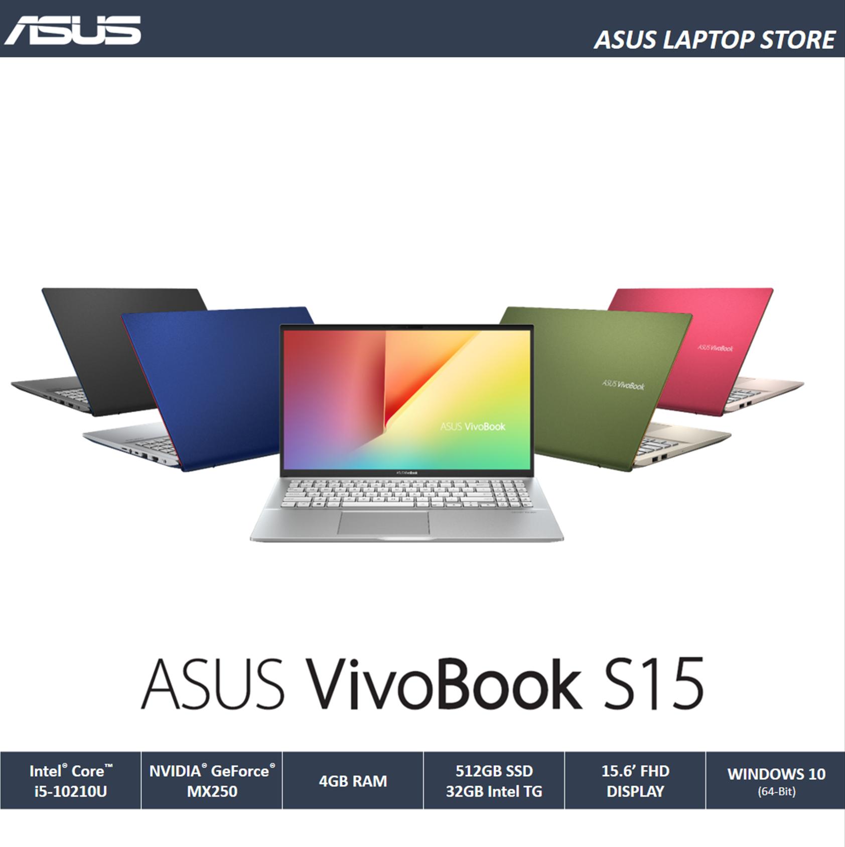 Asus VivoBook S15 S531FL (I5-10210U / 4GB OB / PCIEG3x2 NVME 512G + 32GB INTEL TG / 15.6-FHD / MX250 2GB / 802.11ax + BT5.0 / WIN10 / 1.8KG) Malaysia