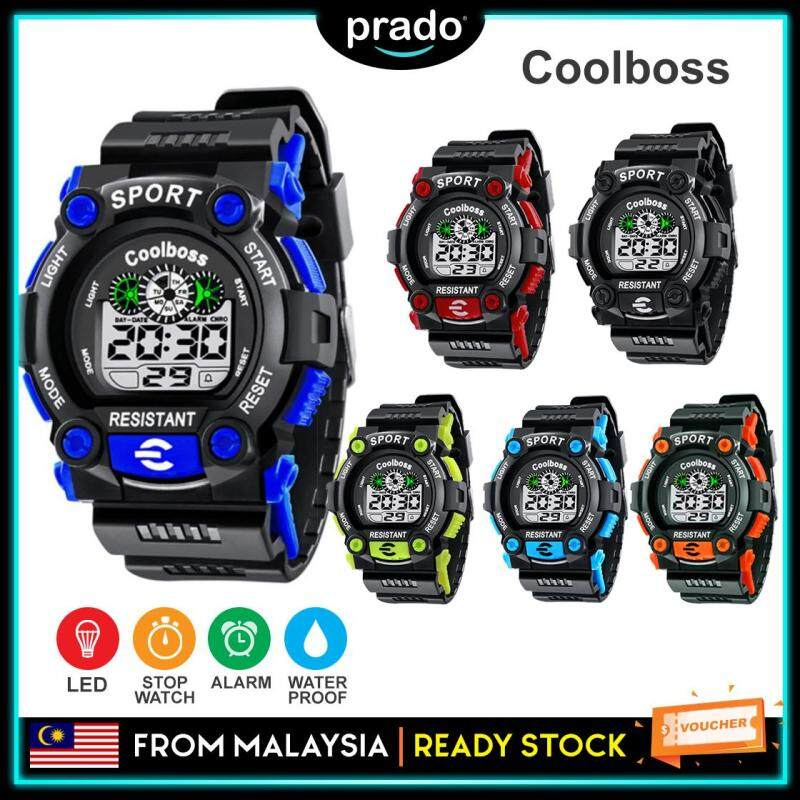 PRADO Sport Student Children Watch Kids Watches Boys Clock Child LED Digital Jam Malaysia