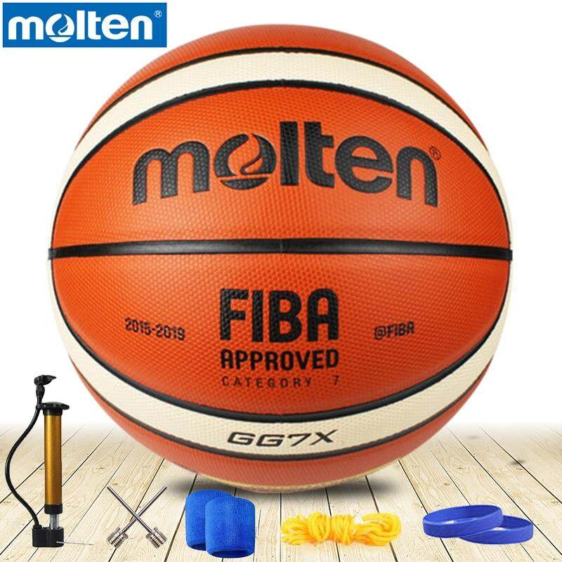 Original Molten Bgg7x Gg7x Basketball Ball Pu Materia Official Size7 Basketball Free With Inflator / Net Bag /needle By Baseus Digital Store.