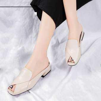 GUO แฟชั่นผู้หญิงรองเท้าส้นสูงรองเท้าแตะ Casual Anti - SLIP รองเท้าสตรีรองเท้าแตะชายหาด-