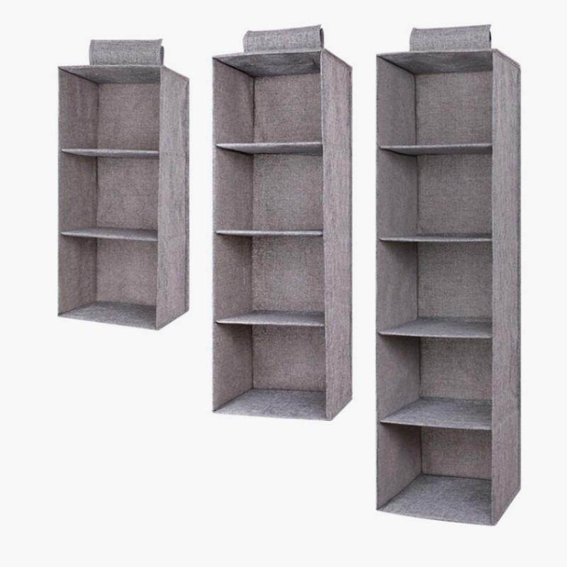 3/4/5 Pockets Wardrobe Hanging Clothes Holder Rack Organiser Storage