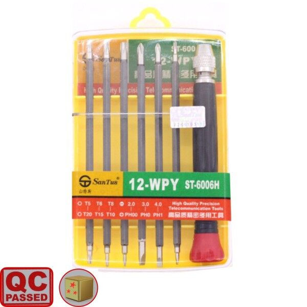 Precision Tool Kit 6 Pieces Screwdriver Set Magnetic Tip (ST-6006H 12-WPY )