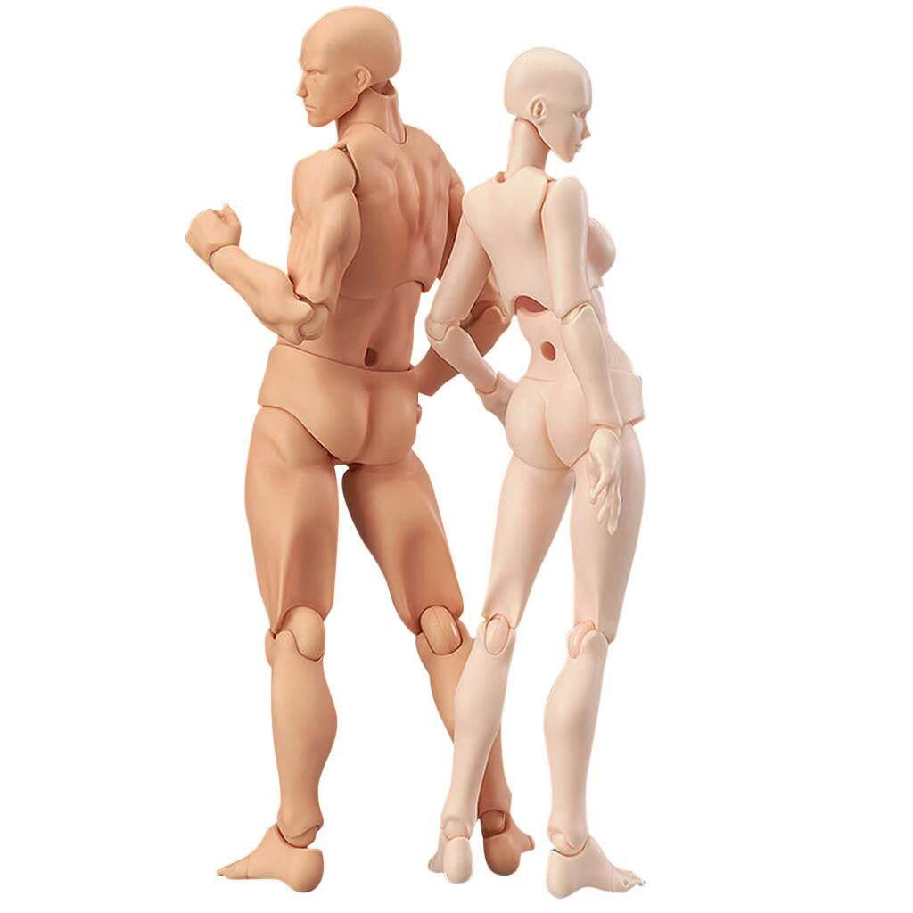 JINGUANGHUA Drawing Figures For Artists Action Figure Model Human Mannequin Man andWoman Set