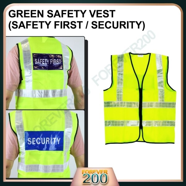 Safety Coat with Zip Reflective Strip Vest Netting Safety First / Security Jaket Keselamatan Ready Stock
