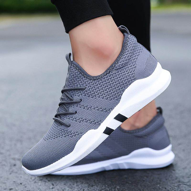 4c7be33162c7 Men Running Trainers Lace Up Flat Comfy Fitness Gym Sports Shoes Casual  Shoes