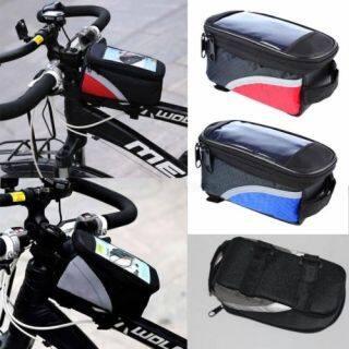 Túi đa năng gắn ghi đông xe đạp có ngăn cảm ứng cho điện thoại chất liệu Oxford giá tốt - INTL thumbnail