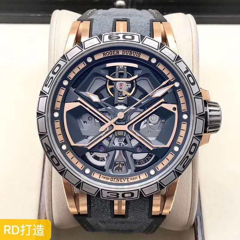Jam Tangan Mekanis Pria ROGER' DUBUIS, Titanium