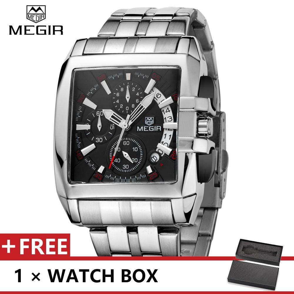 Megir Top Luxury Brand Watch Famous Fashion Sports Cool Men Quartz Watches Waterproof Stainless Steel Wristwatch For Male Mge2018g.01 By Mini Fashion.