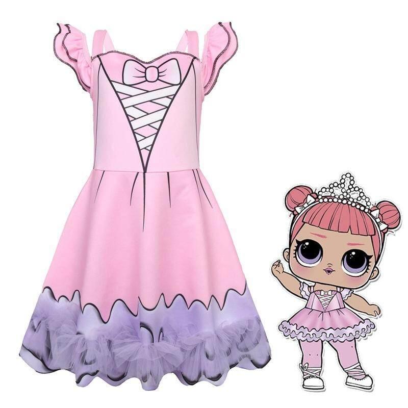 Giá bán Bé Gái Nơ Chính Thức Bầu Halloween cosplay Áo Thun Nữ Tay Ngắn in hình ren Dự Tiệc Thời Trang Trẻ Em bạn gái Tuổi Teen quần áo