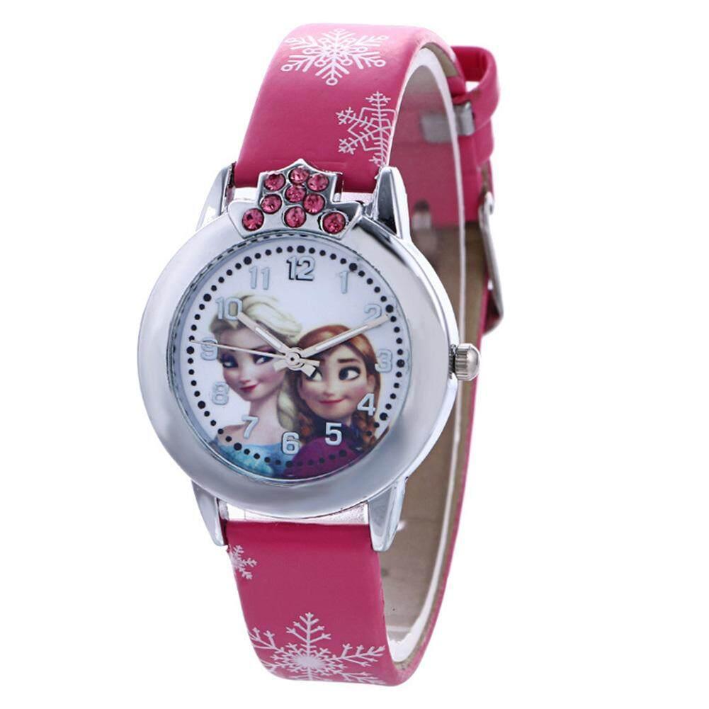 Yuee Bingyue Elsa Anna Quartz Wrist Watch Perfect Gift for Girl Kids Children Malaysia