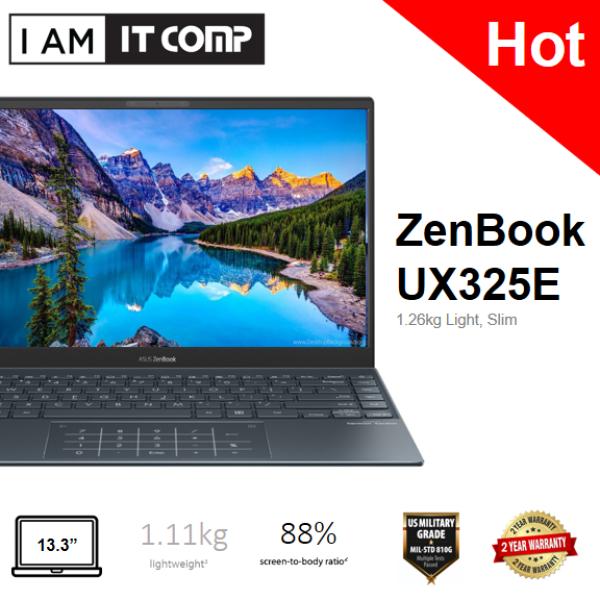 Asus Zenbook 13 UX325E-AEG070TS 13.3 FHD Laptop Pine Grey (i7-1165G7/8GB/512GB SSD/INTEL/W10H/PRELOAD M.OFFICE H&S 2019) Malaysia