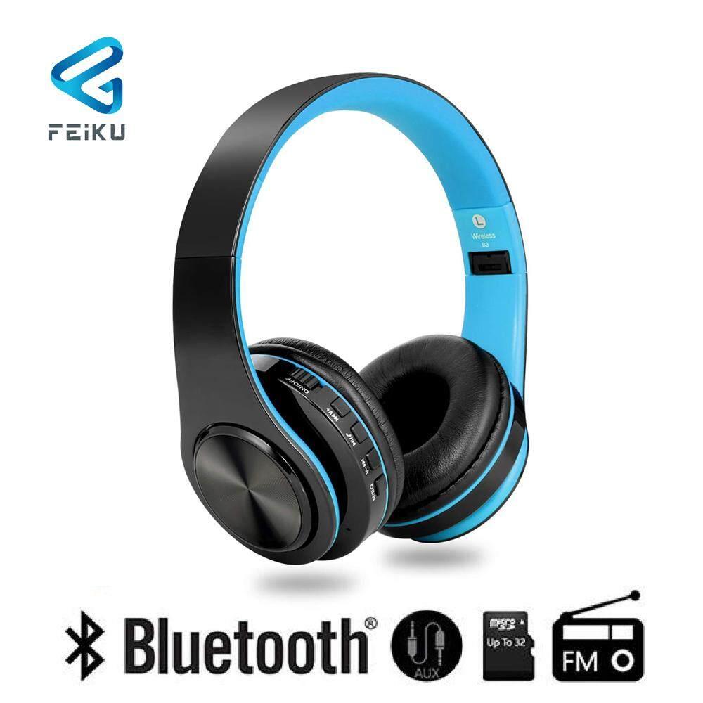 Feiku St6 Nirkabel Bluetooth Kids Headphone Ringan Dapat Dilipat Dapat Disesuaikan Atas Telinga Earfon Dengan Mikrofon Aux Di Kartu Sd Fm Untuk Smartphone Tablet Pc By The Bsw.