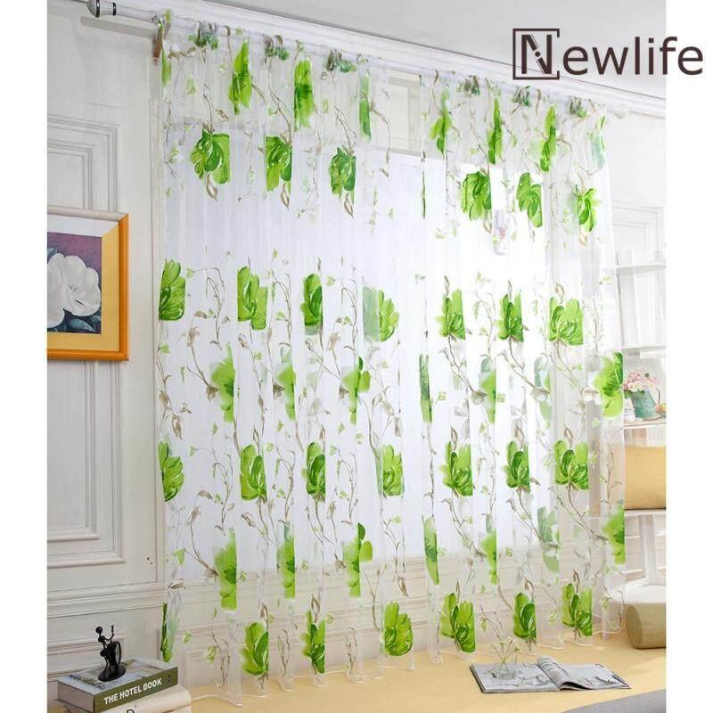 Lớn Hoa Vải Tuyn Màn Rèm Cửa Kiểm Tra Cửa Sổ Treo Lên Cho Phòng Ngủ Trang Trí Nội Thất
