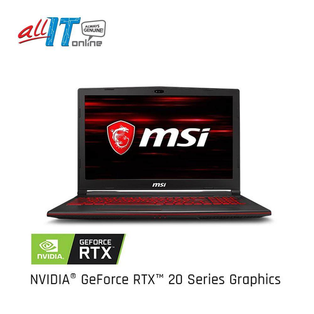 MSI GL63 8SE-098MY 15.6 Gaming Notebook [RTX2060,i7-8750H, 8GB,1TB, 256GB, W10H]**FREE MSI Gaming Backpack** Malaysia