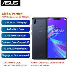 Phiên Bản Toàn Cầu ASUS Điện Thoại Zenfone Max M2 ZB633KL Điện Thoại Di Động 6.3Inch 3GB 32GB Snapdragon632 4000 MAh Sim Kép Android 8.1 4G Điện Thoại Thông Minh LTE
