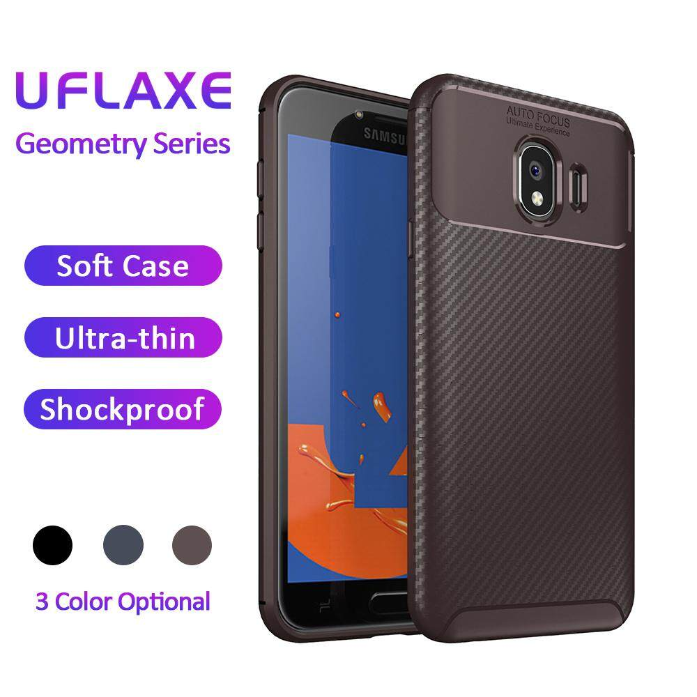UFlaxe Phone Case For Samsung Galaxy J4 2018 / SM-J400, Soft Casing Carbon