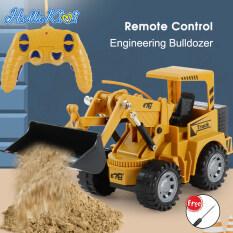 HelloKimi Hợp thời trang điện điều khiển từ xa kỹ sư xe tải đồ chơi cho bé trai trẻ em bé gái rc xe tải hợp kim xây dựng xe tải sạc xe tải xe ô tô đồ chơi