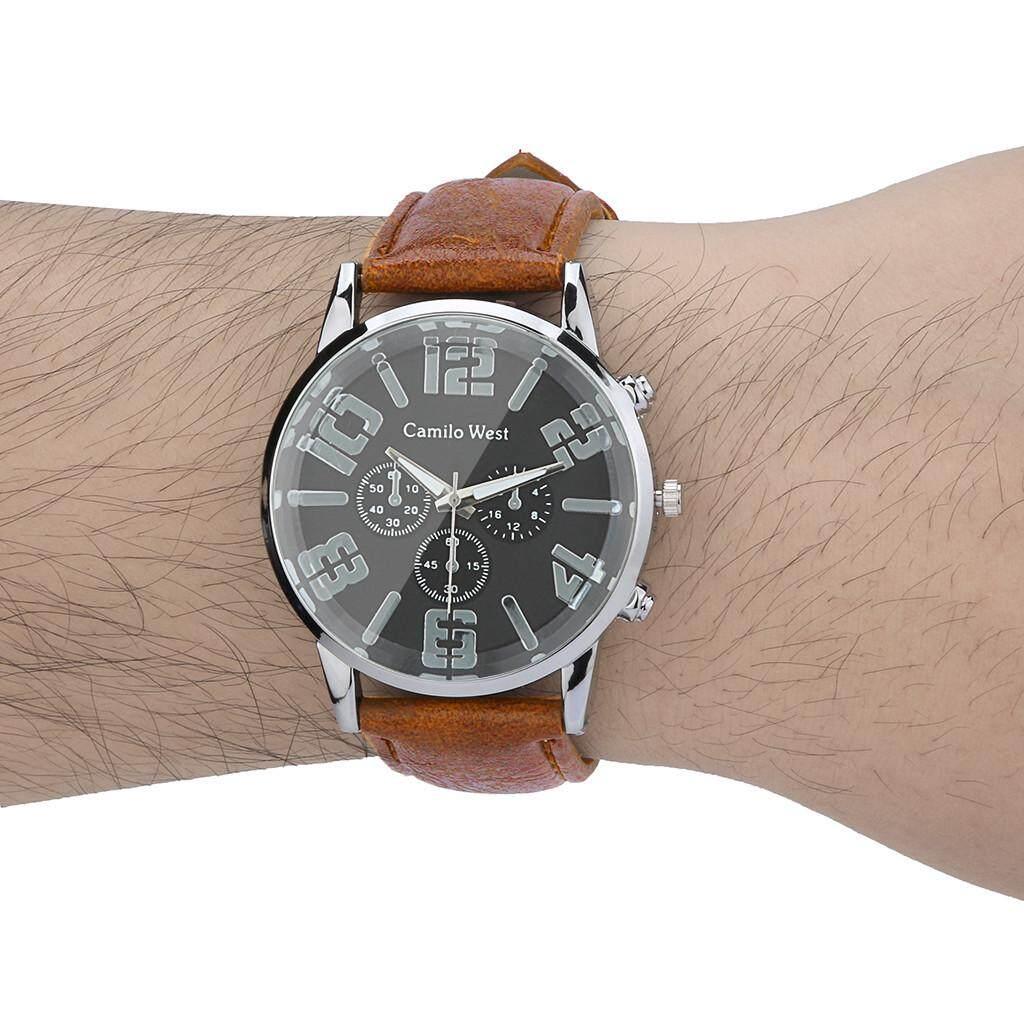 Warnerhop Trend Outdoor Sports Quartz Watch Three-eye Dial Casual Leather Belt Mens Watch Malaysia