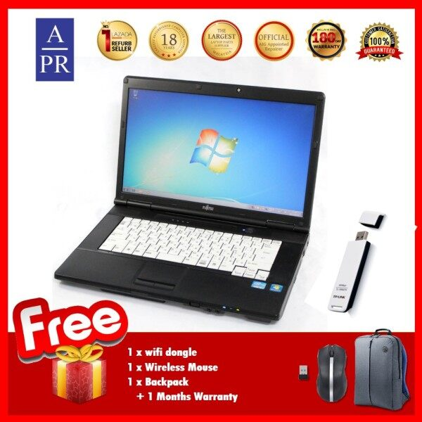 (REFURBISHED) Fujitsu FMV-C8240 60GB HDD 1GB RAM 15 Inch Laptop Notebook Malaysia