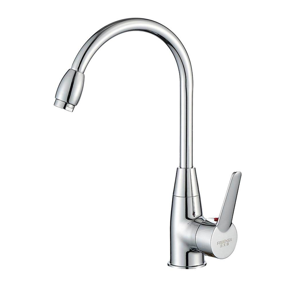 Wintin Basin Water Tap Faucet Bathroom Tapware Kitchen Sink Tap Faucet Stainless Steel Hot and Cold Water Tap Mixer
