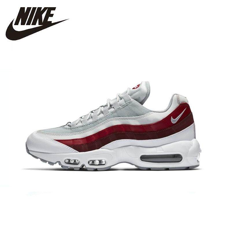 NIKE_AIR_MAX_95_ESSENTIAL_Men Running Shoes Outdoor Sports Comfortable Sneakers White & red