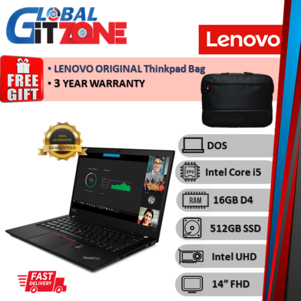 Lenovo Thinkpad T490 20RYS07L00 14 FHD Laptop ( i5-10210U, 16GB, 512GB SSD, Intel, DOS ) NoteBook T490-7L00 Malaysia