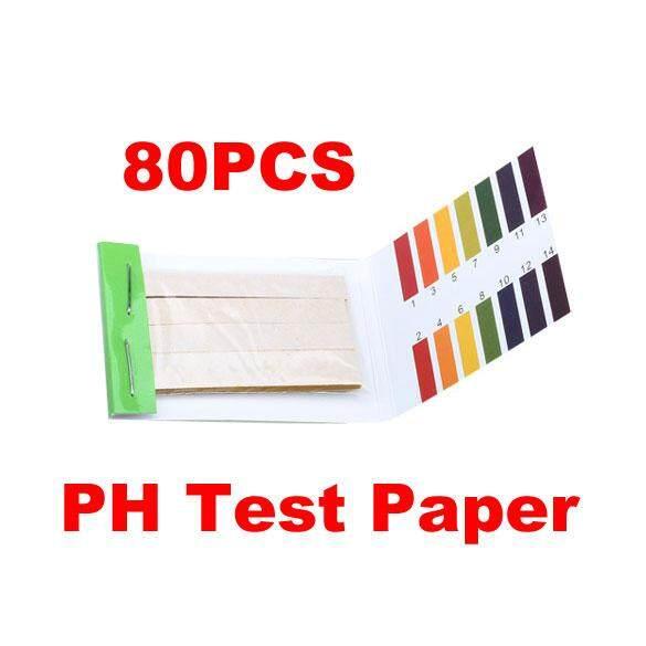80 Strips PH Meters Indicator Paper PH Value 1-14 Litmus Testing Paper Kit