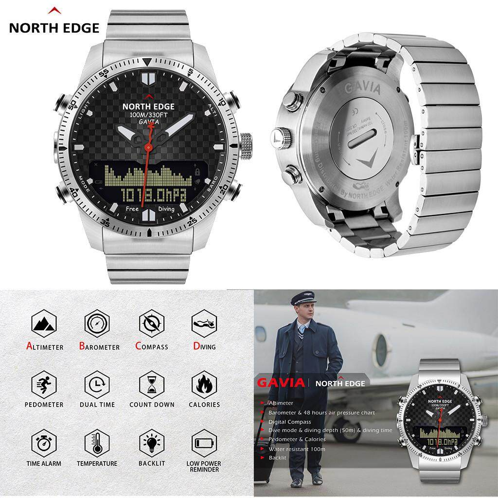 World Deal NORTH EDGE GAVIA Diving Business Sports Watches Waterproof Smart Relogio Compass Malaysia