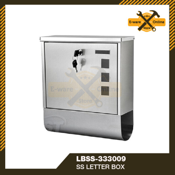 Stainless Steel Letter Box Outdoor Peti Surat Rumah Post Box Mailbox Outdoor Mail Box Peti Surat Moden Postbox Outdoor