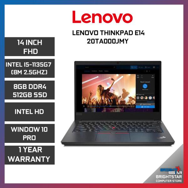 Lenovo ThinkPad E14 Laptop (14 Inch FHD | Intel Core | I5-1135G7 (8M 2.5GHZ) | 8GB RAM | Intel Graphic | Windows 10 Pro | 1 Year Warranty) Malaysia