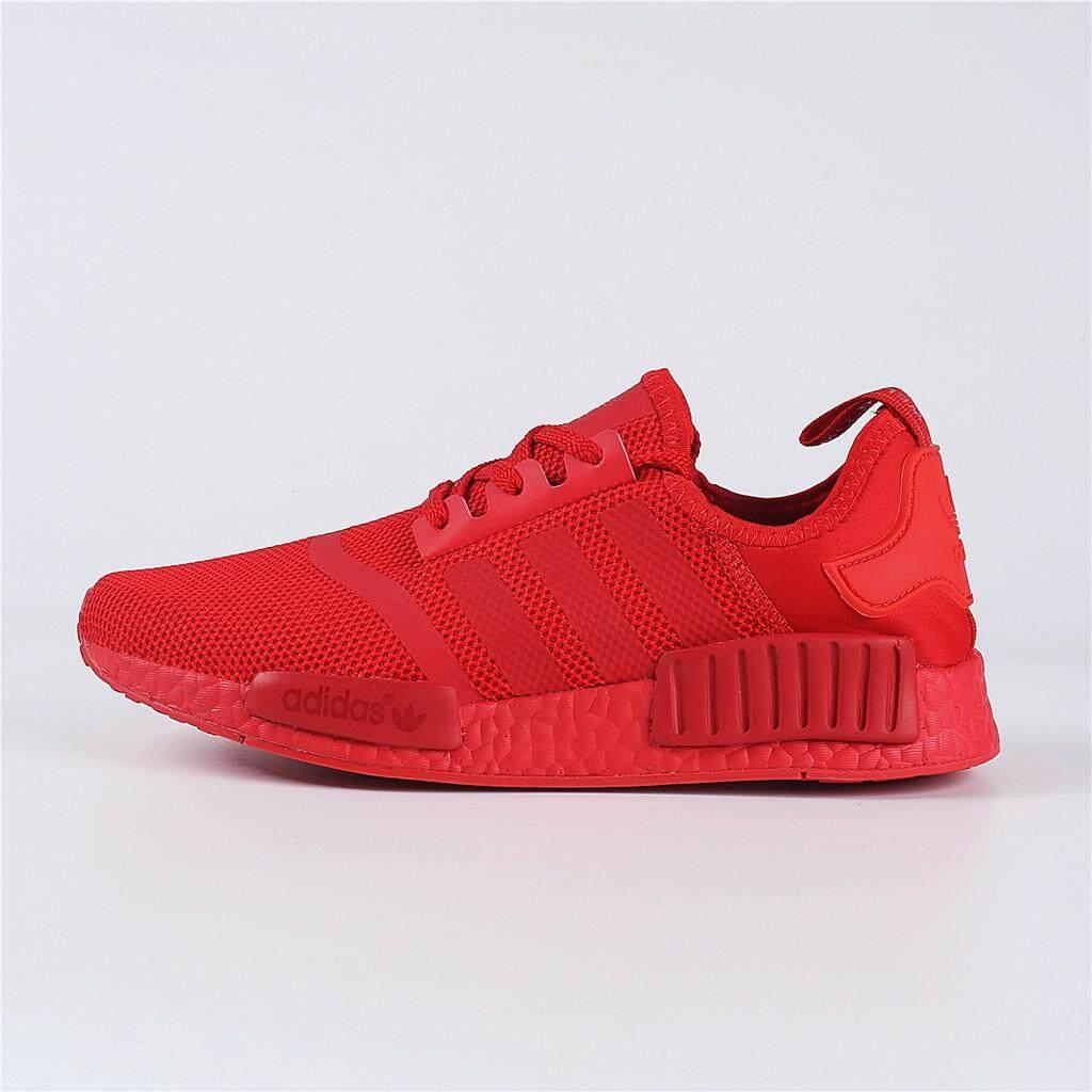 สอนใช้งาน  ตาก Adidas NMD RUNNER PK ทั้งหมดสีแดงรองเท้าผ้าใบ/รองเท้า