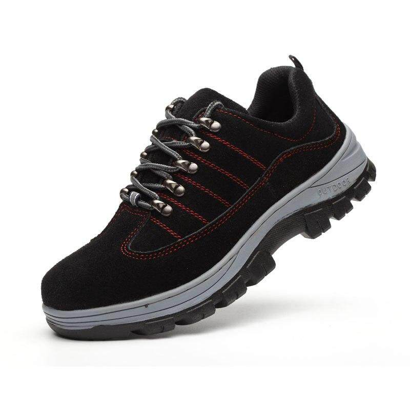 6a902a187eb Men Work Safety Boots Unisex Lace-Up Outdoor Anti-slip Steel Puncture Proof  Construction Men Safety Boots HH-934
