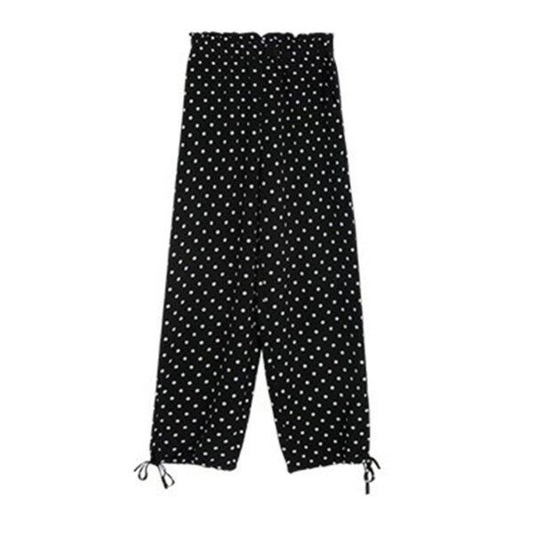 Best Price Chiffon Drawstring Beam Pants Radish Pants Women Summer Loose Pants