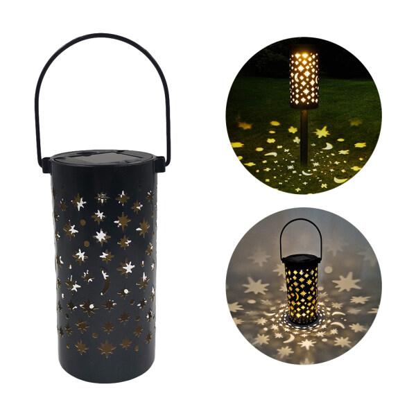 Ronghui Đèn LED Năng Lượng Mặt Trời Đèn Lồng Sắt Rèn Đầy Sao Chống Nước Đèn Trang Trí Treo Lối Đi Sân Vườn