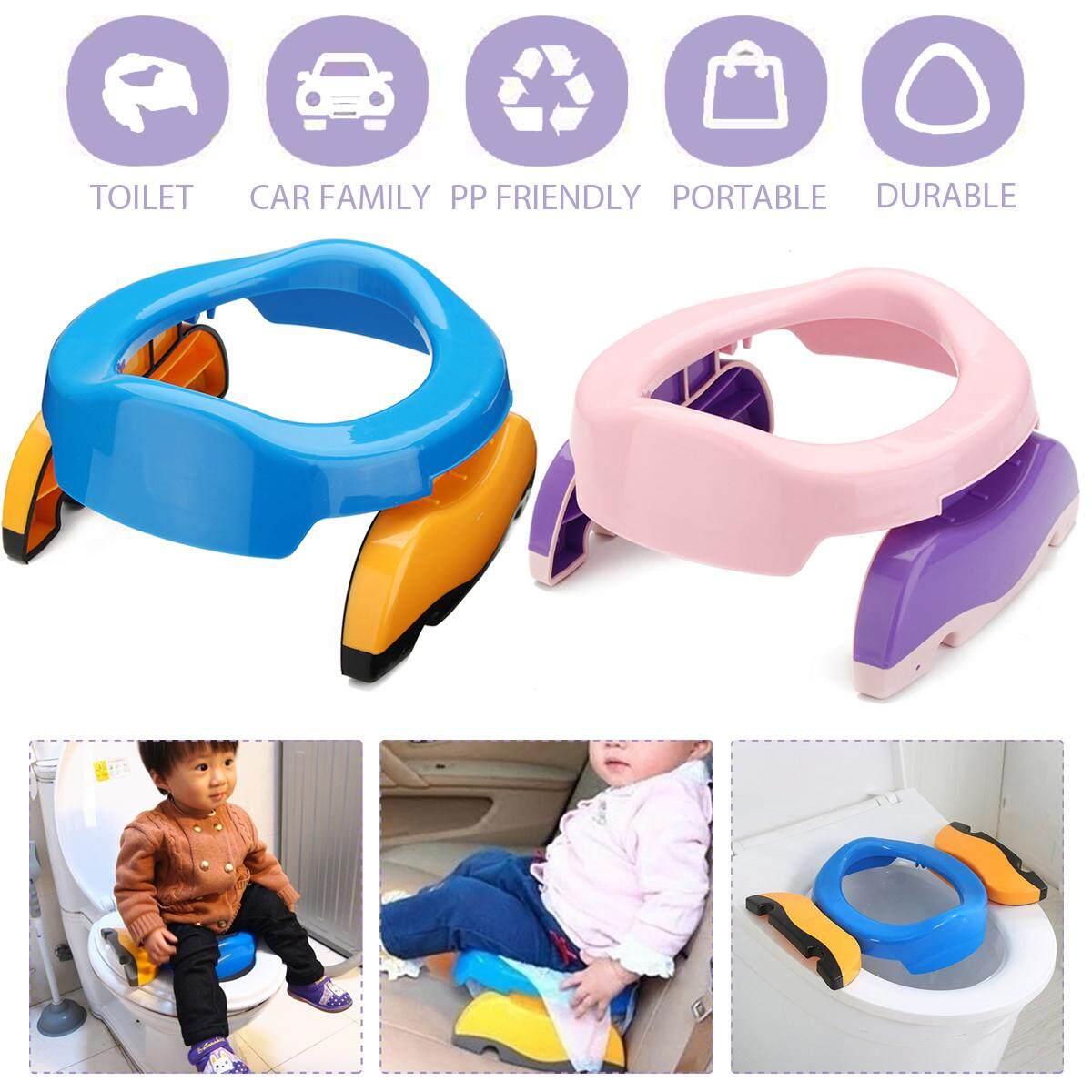 Lipat Portabel Kursi Toilet Perjalanan Dudukan Toilet untuk Anak Kursi  Plastik Bibir d1d7e67f66