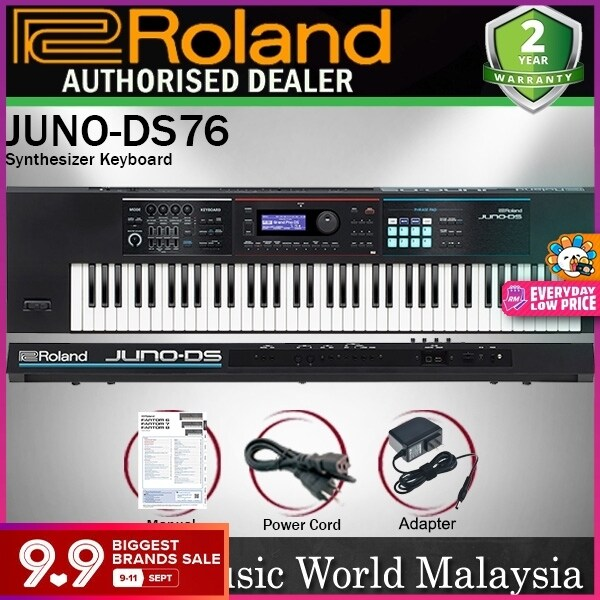 Roland Juno DS76 76 Key Portable USB MIDI Synthesizer with Velocity Sensitive Key (DS 76) Malaysia
