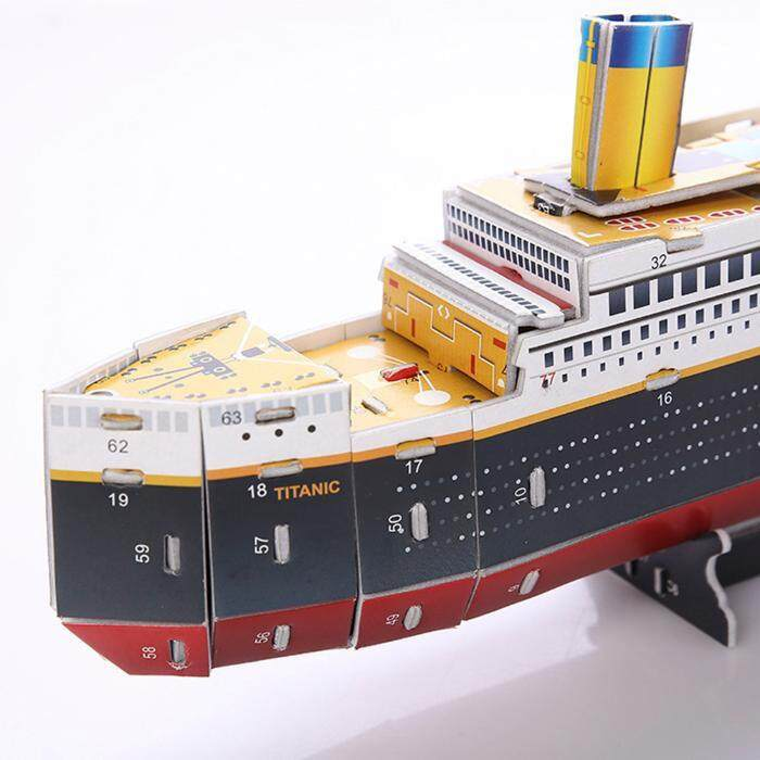 f117869b 30 Pieces 3D Model Educational Puzzles Titanic Movie Ship DIY Toys Children