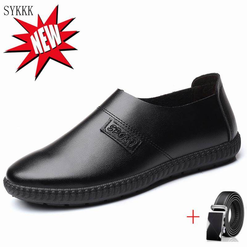 SYKKK business men formal shoes summer free shipping new design Soft social new high quality shoe for adult man (Read Stock)