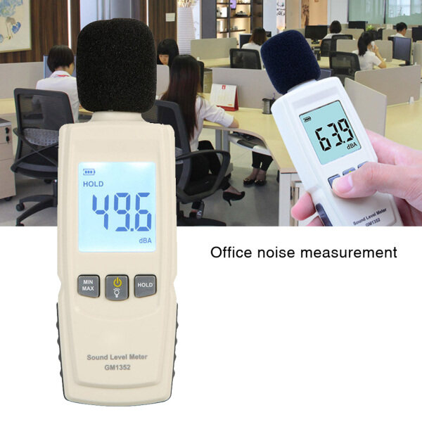 Industrial Digital LCD Display Portable Data Hold Home Decibel Noise Measurement 30-130dB Office Sound Level Meter