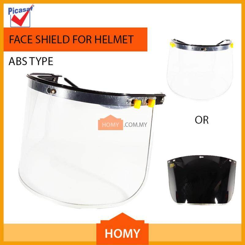 PICASAF Safety Helmet Visor ABS Face Shield Clear Screen/Black Screen