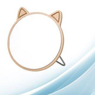 1 Chiếc Gương Mỹ Phẩm Bằng Gỗ, Gương Trang Điểm Thiết Kế Hình Mèo, Gương Để Bàn Phòng Ngủ Gương Trang Điểm Cho Bé Gái thumbnail