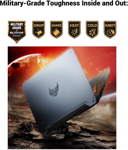 "ASUS TUF TUF506IU-ES74 Gaming A15 Gaming Laptop, 15.6"" 144Hz Full HD IPS-Type, AMD Ryzen 7 4800H, GeForce GTX 1660 Ti, 16GB DDR4, 512GB PCIe SSD, 90WHr Battery, RGB Backlit KB, Windows 10 Home Malaysia"